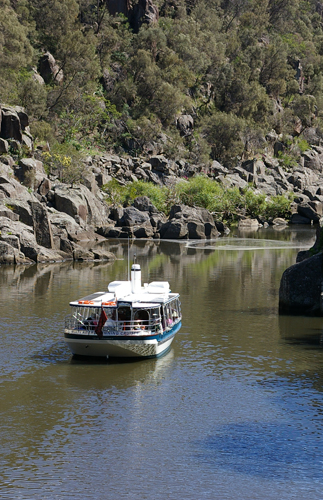 Cruising in Tasmania in the Tamar Valley and Cataract Gorge close to Tasman Island and Freycinet