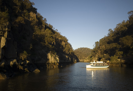 The Cataract Gorge and First Basin are close to Port Arthur and Wineglass Bay